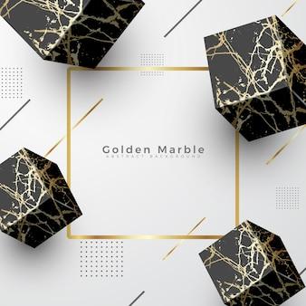 Goldener marmor eleganter luxus hintergrund