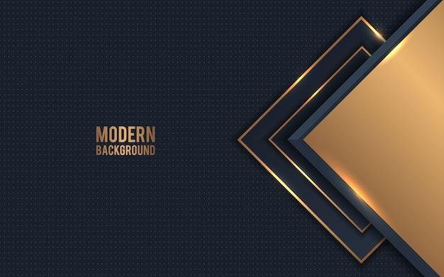 Goldener metallischer abstrakter hintergrundvektor