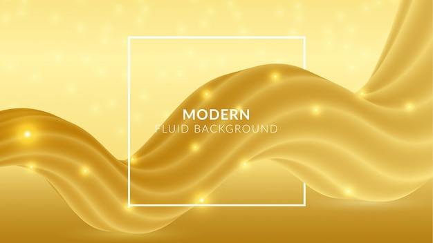Goldener moderner abstrakter fließender hintergrund
