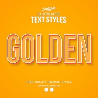 Goldener moderner abstrakter texteffekt bearbeitbarer grafikstil