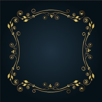 Goldener natürlicher dekorativer grenzrahmen