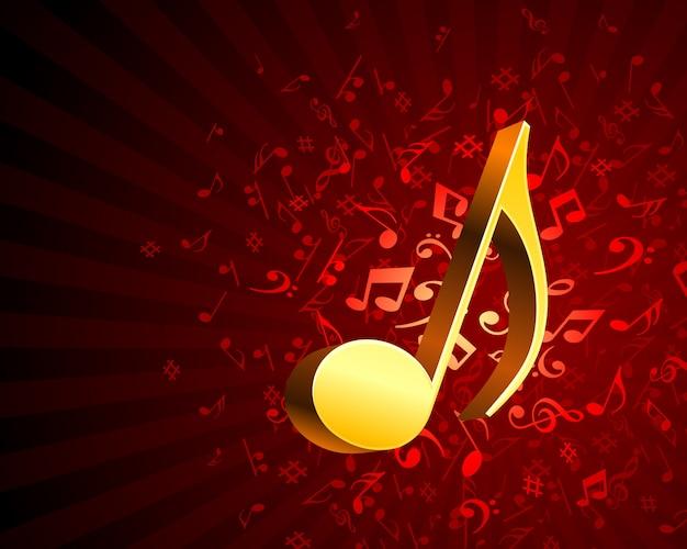 Goldener notenschlüssel inschrift musiknoten hintergrund