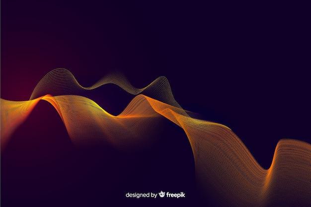 Goldener partikelnetzhintergrund