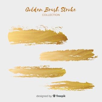 Goldener pinselstrich eingestellt