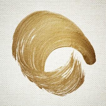 Goldener pinselstrich