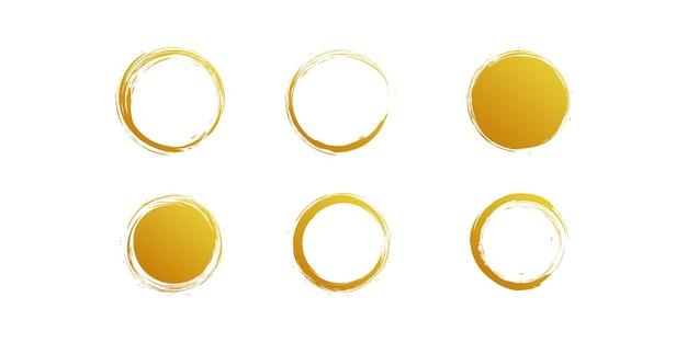 Goldener pinselvektor mit kreativem einzigartigem konzept premium-vektor teil 3