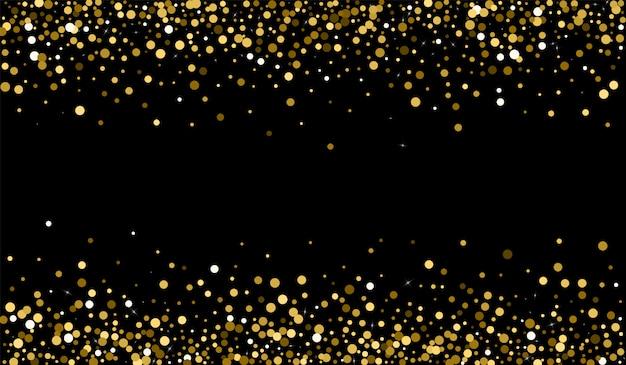 Goldener punktierter hintergrund