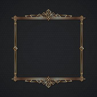Goldener quadratischer luxusrahmen mit farbverlauf