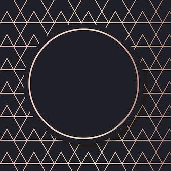 Goldener rahmenkunstvektor geometrische elegante hintergrundquadratkarte