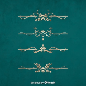 Goldener rand ornament gesetzt