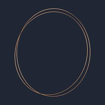 Goldener runder rahmenschablonenvektor
