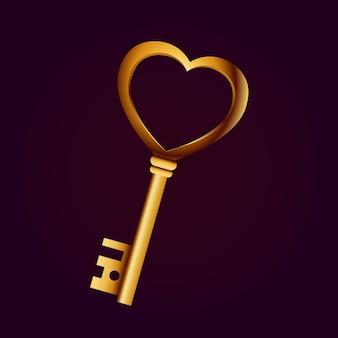 Goldener schlüssel der liebenden.
