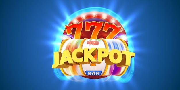 Goldener spielautomat gewinnt den jackpot. casino-jackpot.