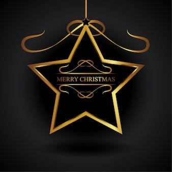 Goldener stern-weihnachtsverzierung