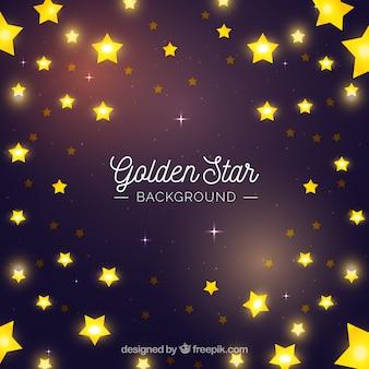 Goldener sterne hintergrund