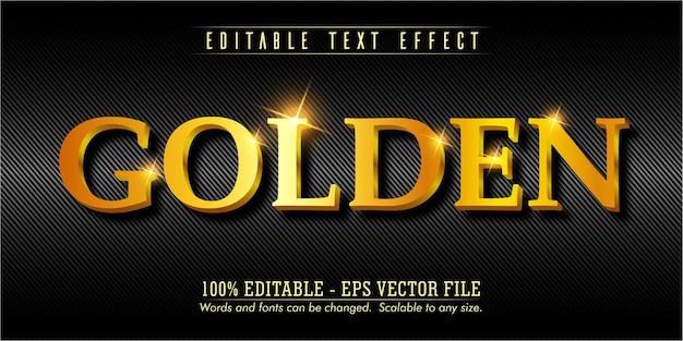 Goldener text, bearbeitbarer texteffekt im goldstil