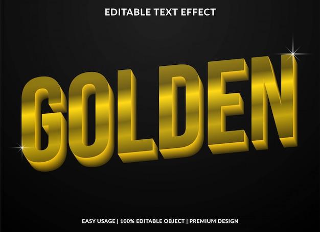 Goldener texteffekt