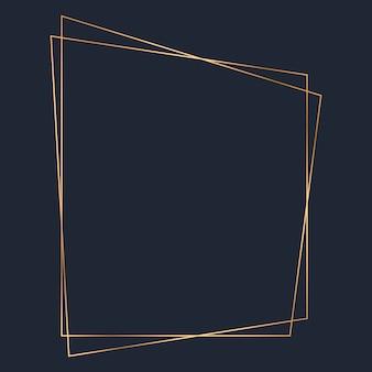 Goldener trapezförmiger rahmenschablonenvektor