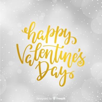 Goldener valentinstagbeschriftungshintergrund
