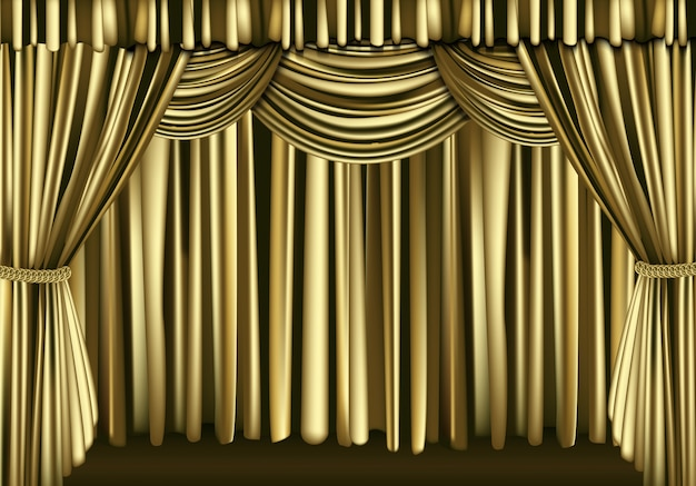 Goldener vorhang