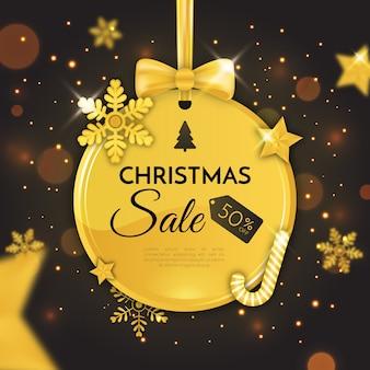 Goldener weihnachtsverkauf