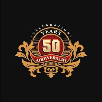 Goldenes 50-jähriges jubiläumslogo
