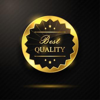 Goldenes abzeichen bester qualität