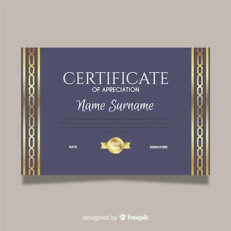 Goldenes Anerkennungszertifikat