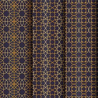 Goldenes arabisches farbverlaufsmuster Kostenlosen Vektoren
