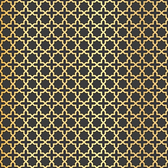 Goldenes arabisches farbverlaufsmuster