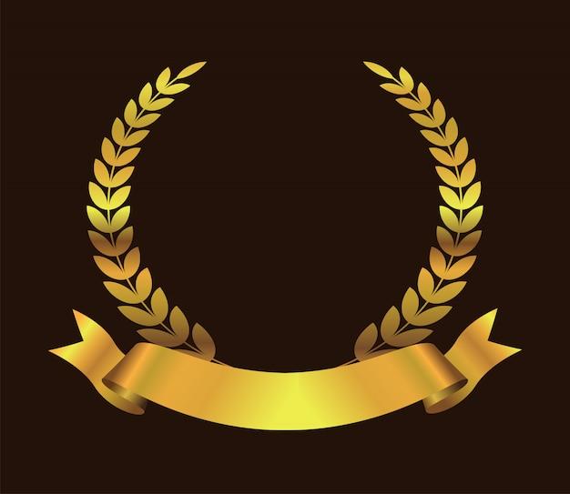 Goldenes auszeichnungssymbol