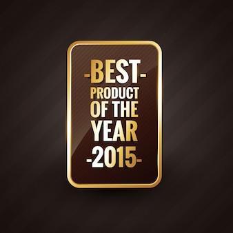 Goldenes bestes produkt des jahres label abzeichen