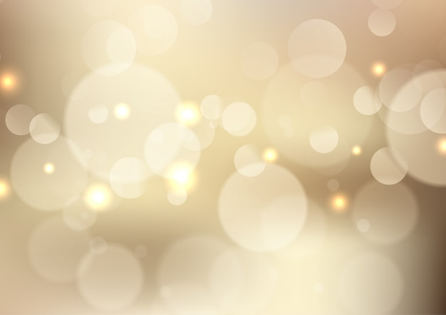 Goldenes bokeh beleuchtet hintergrund