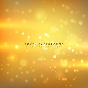 Goldenes bokeh hintergrund