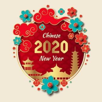 Goldenes chinesisches neues jahr