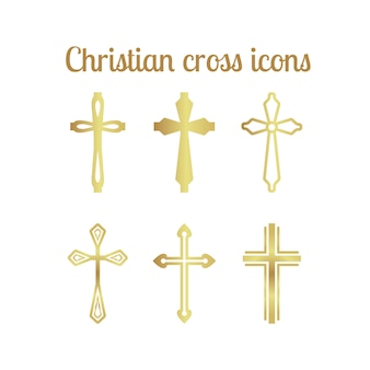Goldenes christliches kreuz