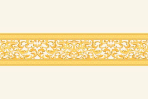 Goldenes dekoratives grenzkonzept