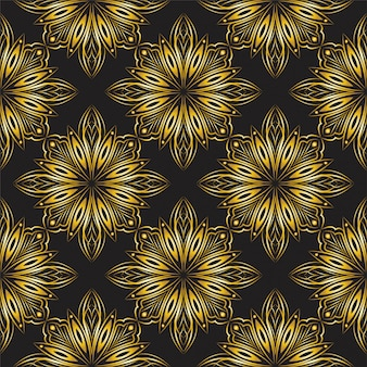 Goldenes dekoratives mandala-entwurfsmuster