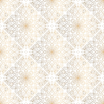 Goldenes dekoratives mandalamuster