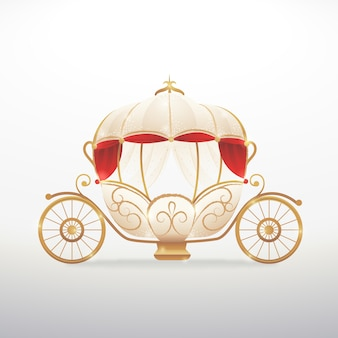 Goldenes design des märchenwagens