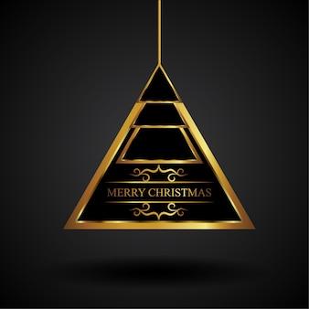 Goldenes dreieck-weihnachtsverzierung