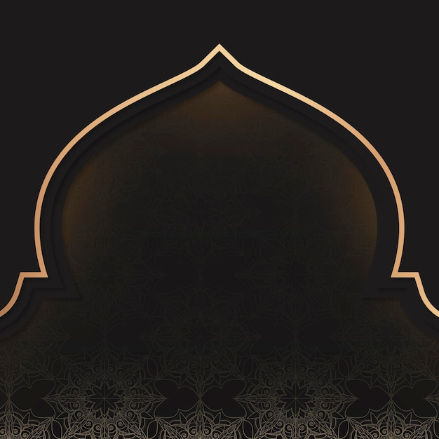 Goldenes eid mubarak rahmendesign