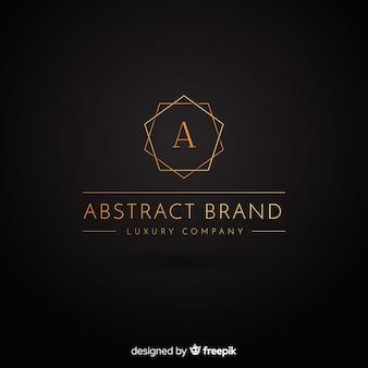 Goldenes elegantes logo flachen stil
