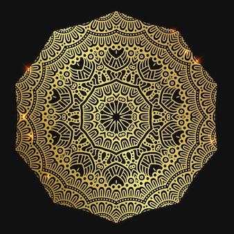Goldenes elegantes mandala