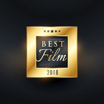 Goldenes etikettendesign des besten film-filmpreises