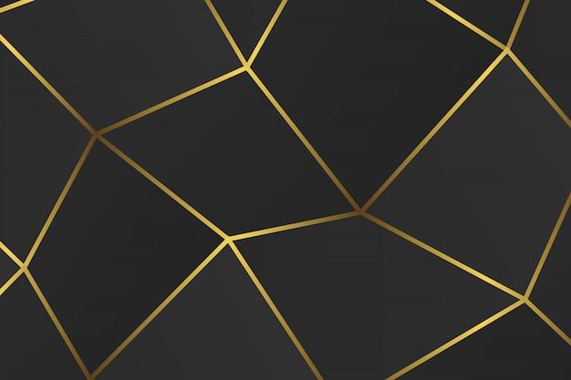 Goldenes geometrisches abstraktes muster.