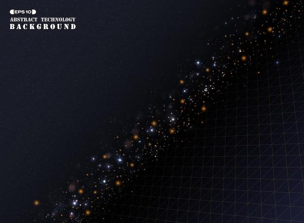 Goldenes geometrisches dreieckstreifen-linienmuster
