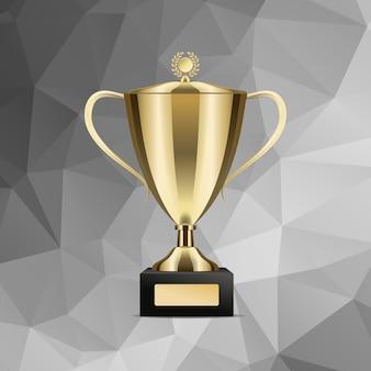 Goldenes gewinnendes trophäen-cup getrennte abbildung