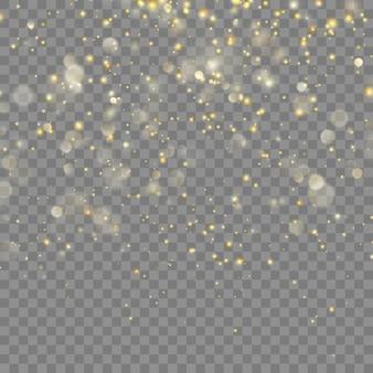 Goldenes glitzern weihnachten. transparenter hintergrund nur in