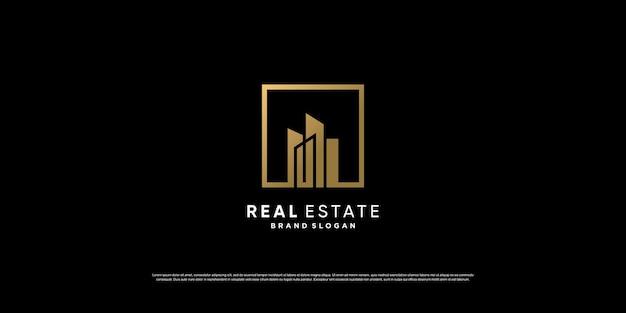 Goldenes immobilien-logo-design